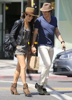 Ian Somerhalder and Nikki Reed shared a sweet moment during their Sunday outing in LA.