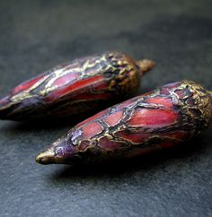 Another view of red and gold pods - Claire Maunsell