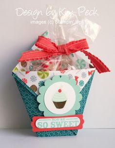 Julies Stamping Spot -- Stampin Up! Project Ideas Posted Daily: Sweet Shop Origami Cup Treat Holder