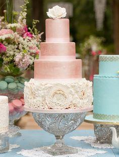 pastel para boda rosado, wedding cake