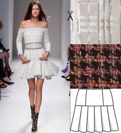 Paris Fashion Week Inspiration: Burda skirt Oct 2013 #120.  Patter:  http://www.burdastyle.com/pattern_store/patterns/pleated-mini-skirt-102013