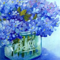 "Daily+Paintworks+-+""Blue+Basics""+-+Original+Fine+Art+for+Sale+-+©+Libby+Anderson"