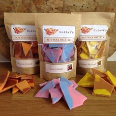 Soy Wax Brittle soy wax melts by CleavesCandles on Etsy Diy Wax Melts, Diy Candle