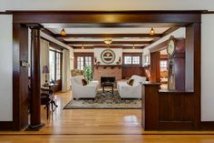 Extensively remodeled in 2005, this classic craftsman is a real jewel, from the front porch to the back porch, you feel the authentic craftsman atmosphere with modern amenities. Formal entry, living and dining room, library with hardwood floors, built- in bench seats, cabinets and bookcases....