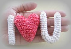 to set on my little girls dresser or you could make the heart blue and put it on the little boys dresser! Saint Valentine, Valentine Heart, Valentine Crafts, Valentines, Valentine Special, Crochet Letters, Crochet Bunting, Crochet Hearts, Little Girls Dresser