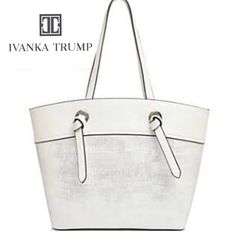 Ivanka Trump Alexey Tote New W Tags Silver White Purse 2eda3c8e26bc1