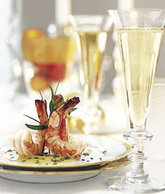 Marinated Shrimp with Champagne Beurre Blanc for a Glittering Christmas Dinner Broiled Shrimp, Marinated Shrimp, Roasted Shrimp, French Sauces, Mezze, Fish And Seafood, Food For Thought, The Best, Tapas