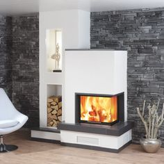 Spartherm Varia Source by mariamichaltsi Home Fireplace, Fireplace Design, Fireplace Ideas, Wood Burner, Home Fashion, Home Living Room, Interior Design Living Room, Sweet Home, New Homes