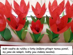 5. tulipán z pet lahve :: Tvoření Daycare Crafts, Diy Crafts For Kids, Art For Kids, Paper Mache Animals, Bunny Crafts, Origami Easy, Spring Crafts, Spring Flowers, Planting Flowers
