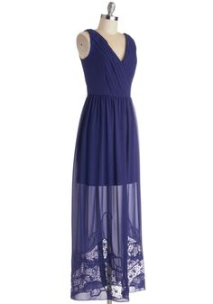 Someone buy this for me please?  It's on sale for pete's sake!  Elegance in Indigo Dress, #ModCloth