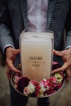 Our candles are engraved and refillable. For more details check our Homepage or write us Candle Jars, Candles, Marriage, Table Decorations, Tableware, Dreams, Weddings, Interior, Check