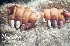 Autumn sweater on nails