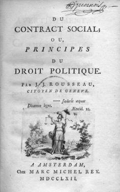 El contrato social, de Rousseau
