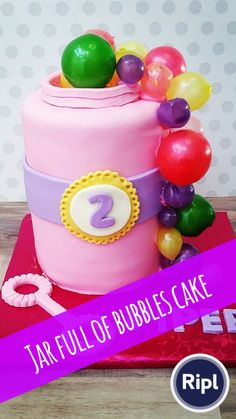 Bubble Cake 6 Double Barrel Gelatin Bubbles From Thecakewalkgirl