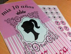 Últimos trabajos: diseño e impresión de afiches + candy para los 10 años de Macarena