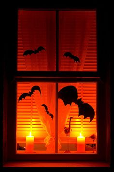 halloween bats, halloween window | Flickr - Photo Sharing!