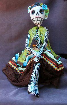 Abilene Boneybags   La Calavera de la Catrina by BlueGooseStudios, $285.00