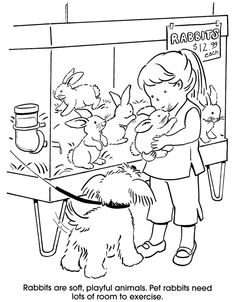 29 Best Kids and Pets Coloring Pages images | Coloring ...