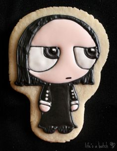 Severus Snape Potterpuff Cookie. by navygreen, via Flickr