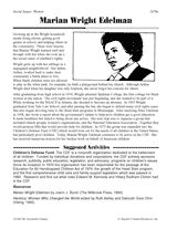 Human rights activist Marian Wright Edelman -- biography & suggested activities