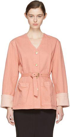 ISABEL MARANT Pink Denim Estil Jacket. #isabelmarant #cloth #jacket