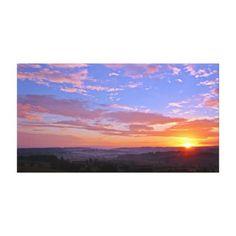Sun | Horizon | Sky Canvas Print - photography gifts diy custom unique special