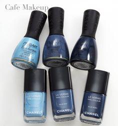 Jeans Collection Nail Polish: Chanel v. Nubar Comparison
