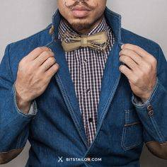 WoodyWood Bow Tie - Custom 3D printed bow tie inspired by Wood. ✄Designed by Bits Tailor.