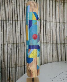 Totem en bois flotté Totem Point Rouge Bois