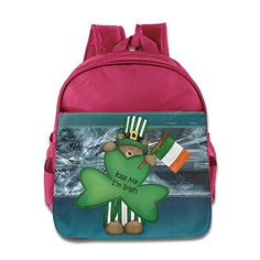 MYKKI St Patrick And Irish Flag Children Cool Bag Pink >>> Details can be found by clicking on the image.