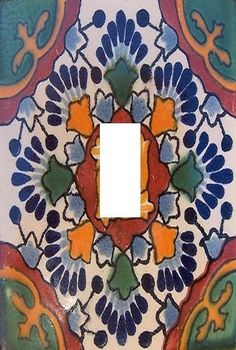 Mexican tile image light switch plate cover  #stillwatersgifts