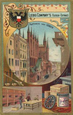 Sammelbild Liebig, Lübeck, um 1910.