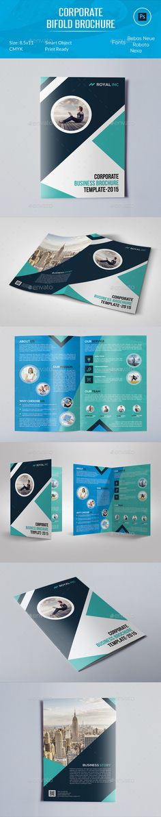 Corporate Bifold Brochure Template #design Download: http://graphicriver.net/item/corporate-bifold-brochure/12248523?ref=ksioks
