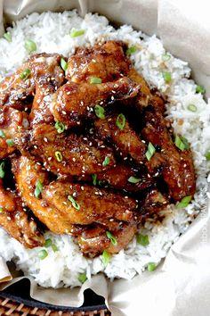 Baked General Tso's Sticky Wings | SimpleRecipesClub