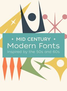Mid Century Modern Fonts Inspired by the and – Home Design Arts Mid Century Art, Mid Century Modern Design, Mid Century Modern Fabric, Interior Modern, Interior Design, Art And Illustration, Vector Illustrations, Modern Fonts, Mid-century Modern