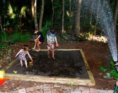 Let them play in MUD! My kids having fun in our back yard mud pit.