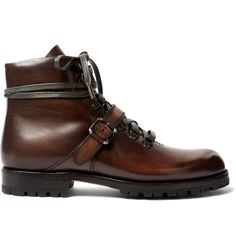 Inspired by a style created in 1923 for silent film legend Mr Rudolph Valentino, <a href='http://www.mrporter.com/mens/Designers/Berluti'>Berluti</a>'s lace-up 'Brunico' boots exude a handsome, rugged appeal. This pair has been crafted in Italy and set on sturdy Goodyear®-welted rubber soles to ensure a firm footing. The signature hand-polished Venezia leather promises to only improve with wear and will develop a rich, seasone...