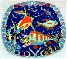 Bopla! Quadro Plate. Tasmania Series. Triple fired porcelain. Switzerland