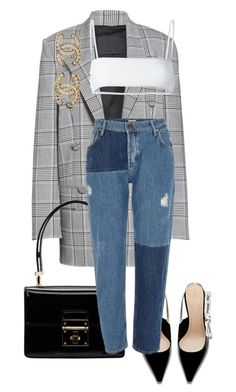 """""""Sans titre #3194"""" by mstfscxrus ❤ liked on Polyvore featuring Alexander Wang, Dolce&Gabbana, River Island, Ack and Chanel"""