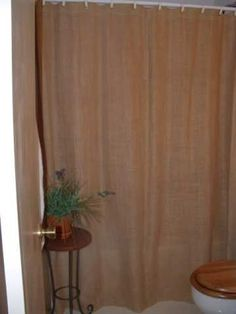 homemade burlap shower curtain custom tan by on etsy