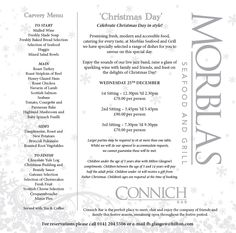 Celebrate Christmas Day in style! Bookings are already getting busy for our 15:45pm sitting. Please call 0141 204 5506 for reservations.