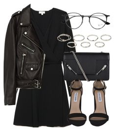 """""""Untitled #7077"""" by laurenmboot ❤ liked on Polyvore featuring Yves Saint Laurent, Steve Madden, Jakke, Akira and Ray-Ban"""