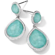 Ippolita Sterling Silver Stella Teardrop Snowman Earrings in Turquoise... ($2,695) ❤ liked on Polyvore