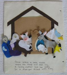 Quiet Book Pattern by singingtimequietbook on Etsy, $9.95**Bible Book...nativity and penny bank
