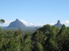 Mt Beerwah and Mt Crookneck