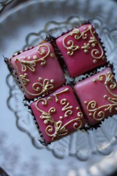 Fondant fancies/ petits fours.