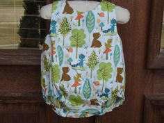 Reversable Baby Boy Romper. $38.00, via Etsy.