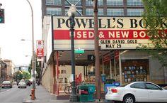 must visit bookstore Powell's Books, Portland, Oregon