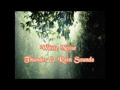 Rain and thunder relaxing white noise | Thunderstorm sound effects - YouTube