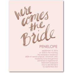 Famous Lines - Studio Basics: Bridal Shower Invitations - Wedding Paper Divas Studio Basics - Chenille - Pink : Front